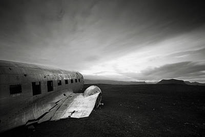 Iceland Dc-3 Print by Nina Papiorek