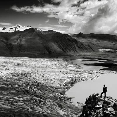 Iceland Glacier Tongue Print by Nina Papiorek