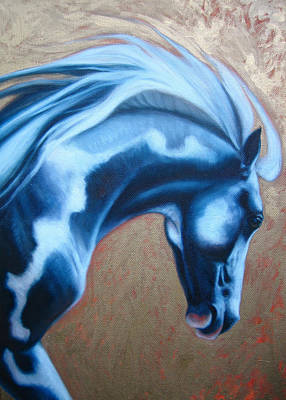 Equine Painting - Icon 1 by Gill Bustamante
