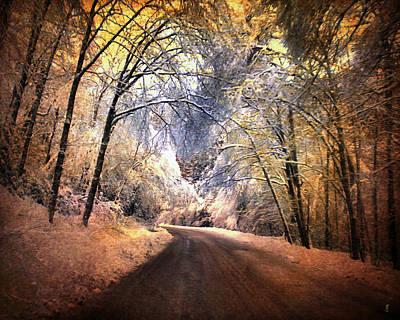 Icy Road Print by Jai Johnson