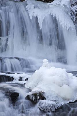 Icy Winter Waterfall Print by John Stephens