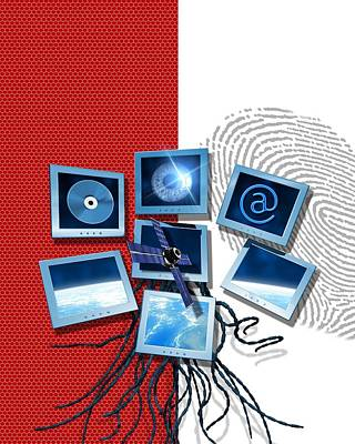 Identification And Surveillance Technology Print by Victor Habbick Visions