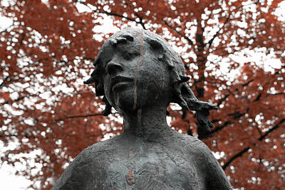 Statue Portrait Photograph - If Trees Could Cry by Steve K