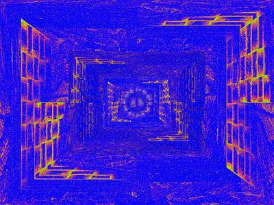 Pathway Digital Art - Illuminati Pathway by Tim Allen