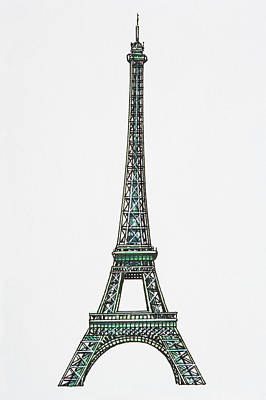 Illustration Of The Eiffel Tower Print by Dorling Kindersley