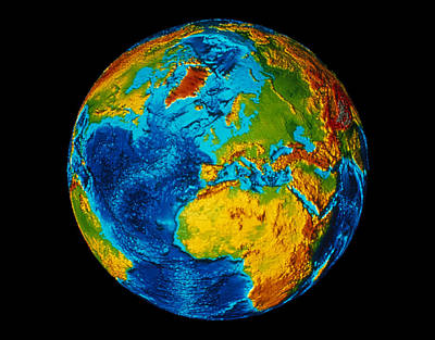 Image Of Earth Generated By Computer Graphics Print by Stocktrek