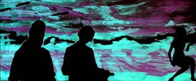 Imaginary Landscape - Fluorescence Serigraphy Original by Arte Venezia