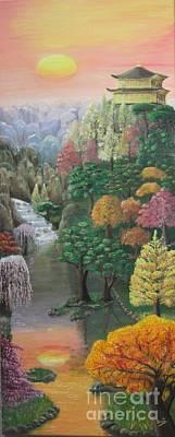 Imagined Autumn In Japan Original by Ana Maria  Garcia Ruiz