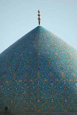 Built Structure Photograph - Imam Mosque In Esfahan, Iran by Kok Siew Huan