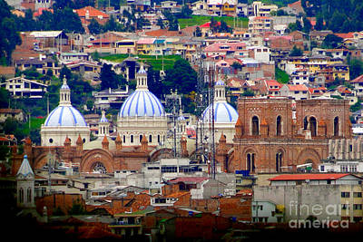 Immaculate Conception Domes II Print by Al Bourassa