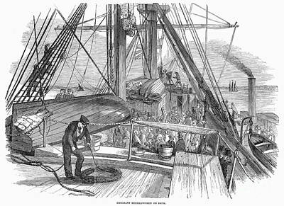 Immigrant Ship, 1850 Print by Granger