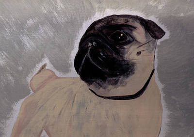 Fawn Pug Painting - Impression Pug by Tanya Stringer
