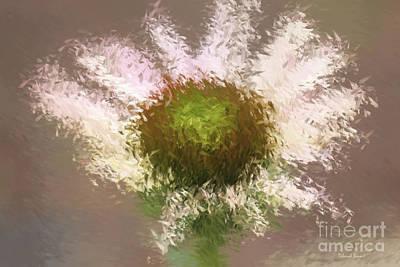 Impressionistic Echinacea Print by Deborah Benoit