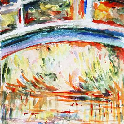 Loose Painting - Impressions On Monet Painting Of Pond With Waterlilies  by Irina Sztukowski