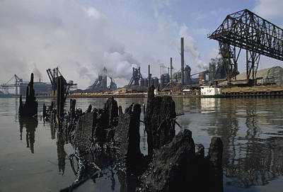 In 1969, This River Was So Polluted Print by James P. Blair