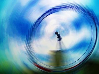 London Eye Digital Art - In A Spin by Sharon Lisa Clarke