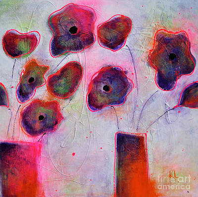 Abstrat Painting - In Full Bloom 2 by Johane Amirault
