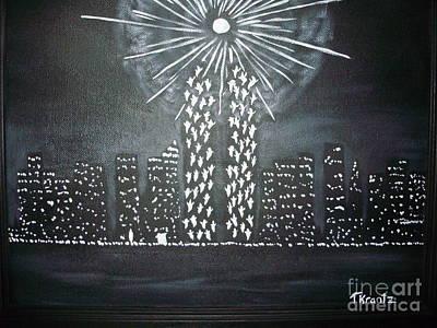 Twin Towers Nyc Painting - In Memorium by Tammy Rekito