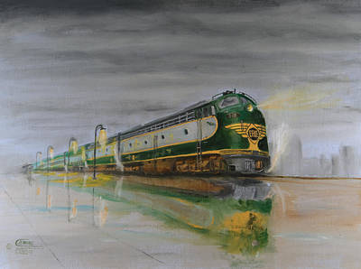 Chicago Reflections Painting - In The Cold Mist by Christopher Jenkins
