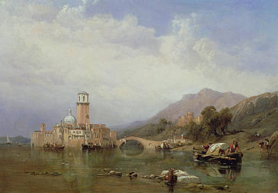 Campanile Painting - In The Gulf Of Venice by Clarkson R A Stanfield