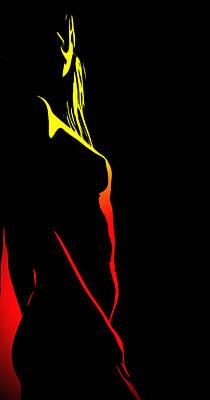 Sex Digital Art - In The Heat Of The Night by Steve K