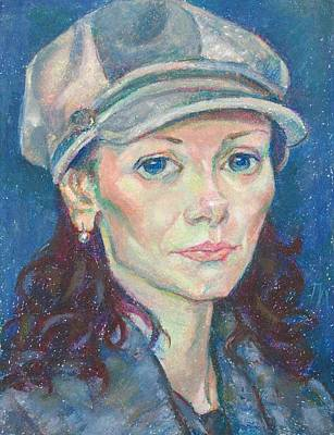 Portrait Painting - Ina Gudkov by Leonid Petrushin