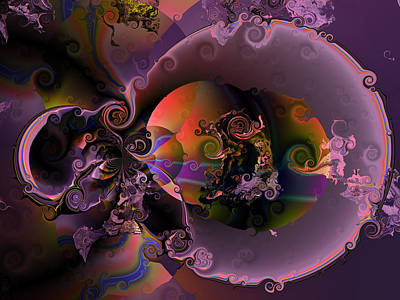 Algorithmic Digital Art - Inception by Claude McCoy