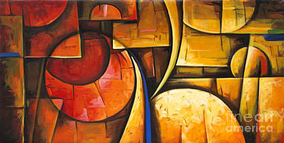 Inception Of Abstract 6 Print by Uma Devi