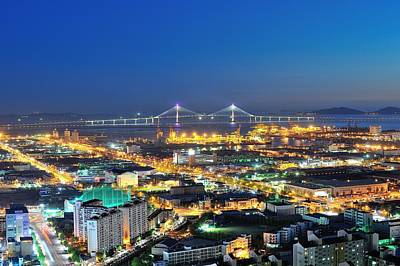 Incheon City Print by Tokism