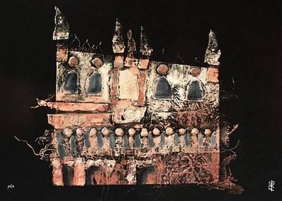 Collagraph Painting - Incisione Di Palazzo Ducale Venezia - Etching Of Doge's Palace Venice - Venedig Kunstdruck by Arte Venezia