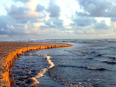 Incoming Tide Photograph - Incoming Tide At Sundown by Will Borden