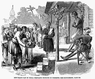 India: New Years Day, 1859 Print by Granger