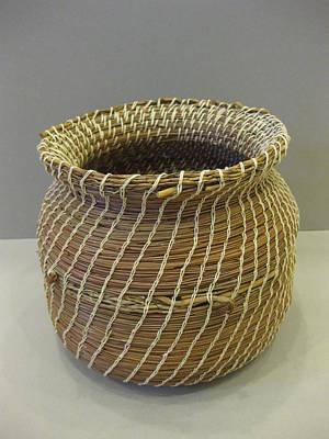 Seminole Baskets Sculpture - Indian Artifact by Beth Lane Williams