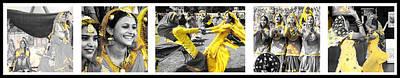 Indian Bhangra Dance Print by Sumit Mehndiratta