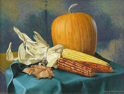 Corn Painting - Indian Corn And . . . by Glen Heberling