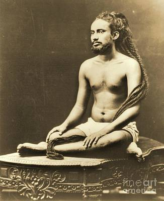 Indian Priest Meditating Print by Padre Art