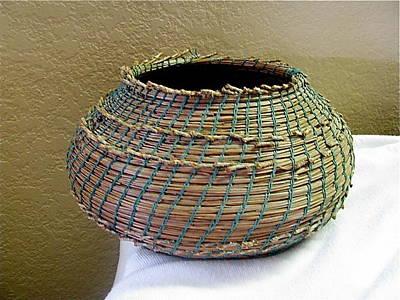 Seminole Baskets Sculpture - Indian Replica by Beth Lane Williams