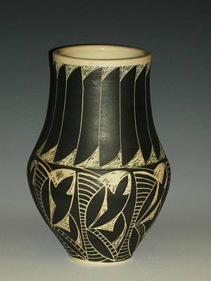Indian Vase Print by Ken McCollum
