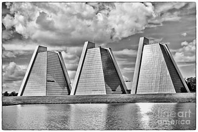 Indianapolis Pyramids Print by David Haskett