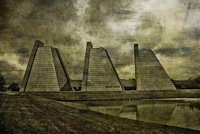 Pyramid Mixed Media - Indianapolis Pyramids Textured by David Haskett
