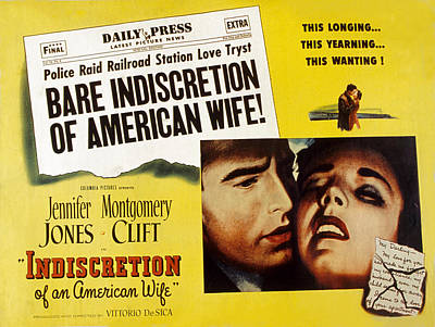 Posth Photograph - Indiscretion Of An American Wife, Aka by Everett