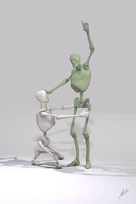 Robotics Mixed Media - Indoctrinated Mechanical by Joaquin Abella