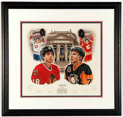 Art Of Hockey Mixed Media - Inductees 2000 Limited Edition by Daniel Parry
