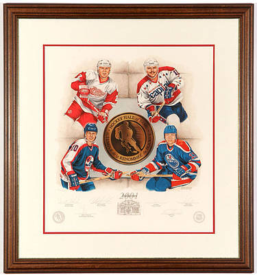 Art Of Hockey Mixed Media - Inductees 2001 Limited Edition by Daniel Parry