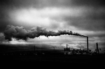 Industrial Eruption Print by Ilker Goksen