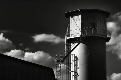 Fiber Glass Photograph - Industrial Silo, Mizuho by Photography by Stephen Cairns