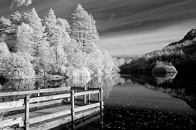 Infrared Glencoe Lochan Print by Billy Currie Photography