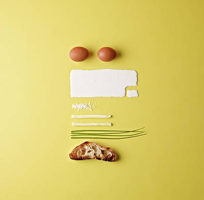 Ingredients For Scrambled Eggs Print by Mark Lund