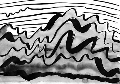 Ink Mountains Print by Hakon Soreide