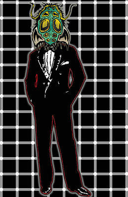 Insectoid Fashion 1 Print by Travis Burns